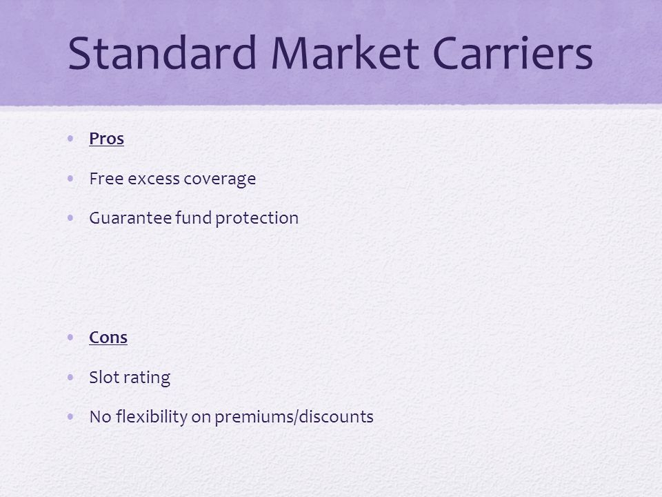 Standard Market Carriers