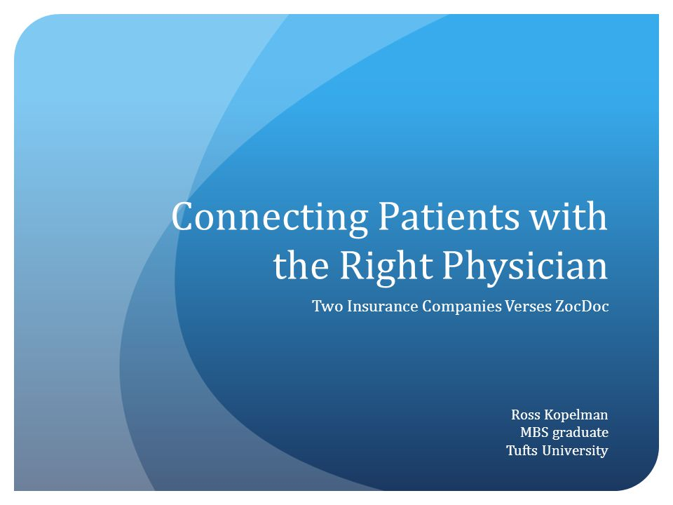 Connecting Patients with the Right Physician