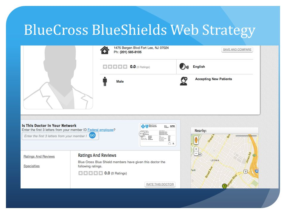 BlueCross BlueShields Web Strategy