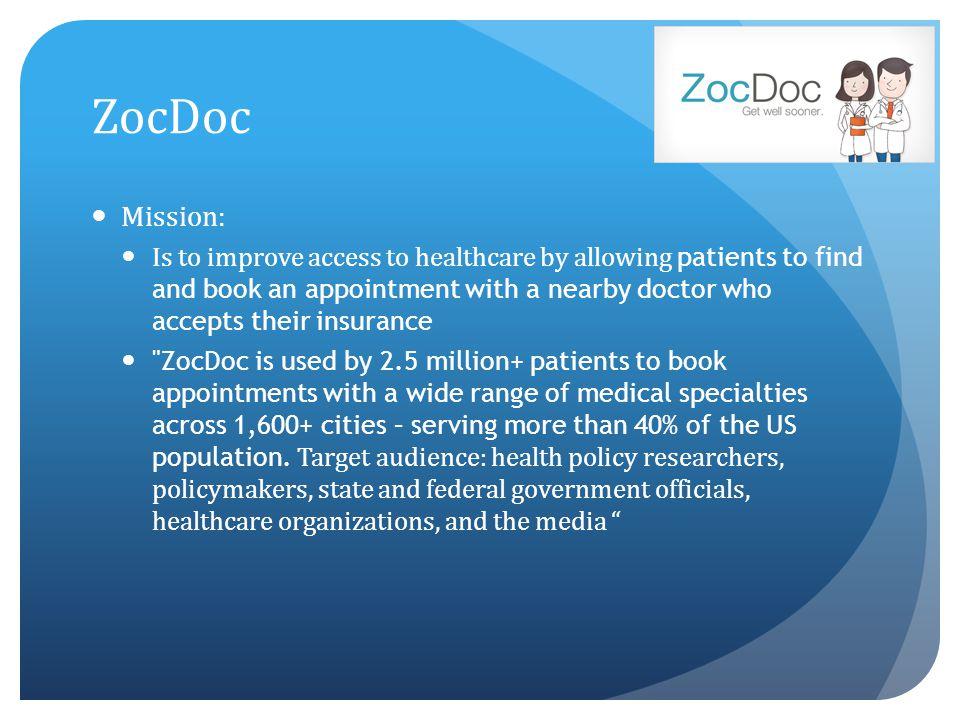 ZocDoc Mission: