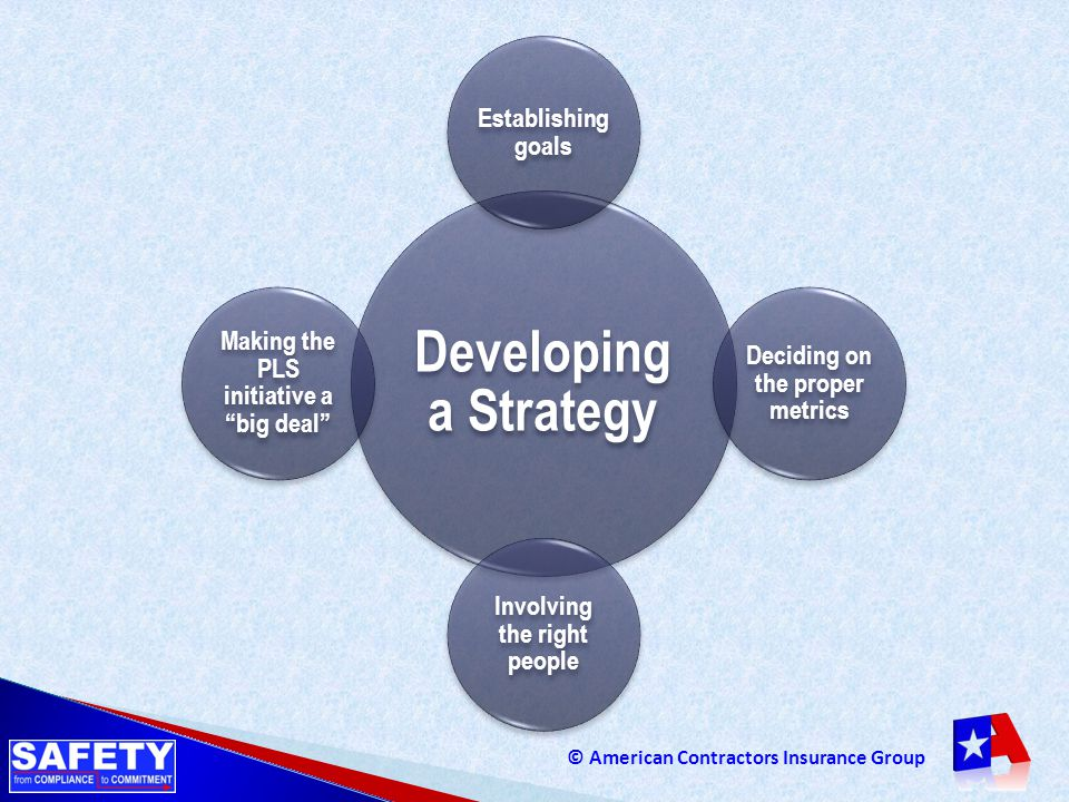 Developing a Strategy Establishing goals