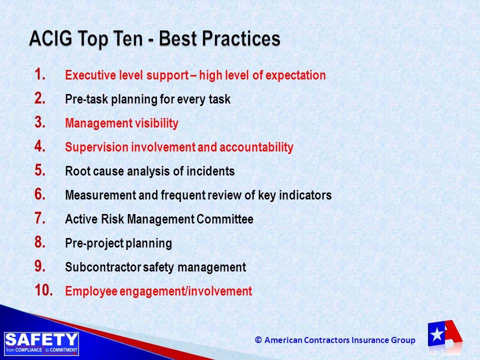ACIG Top Ten - Best Practices
