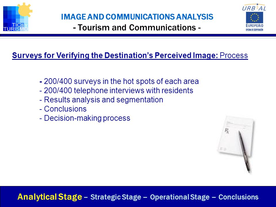 IMAGE AND COMMUNICATIONS ANALYSIS - Tourism and Communications -