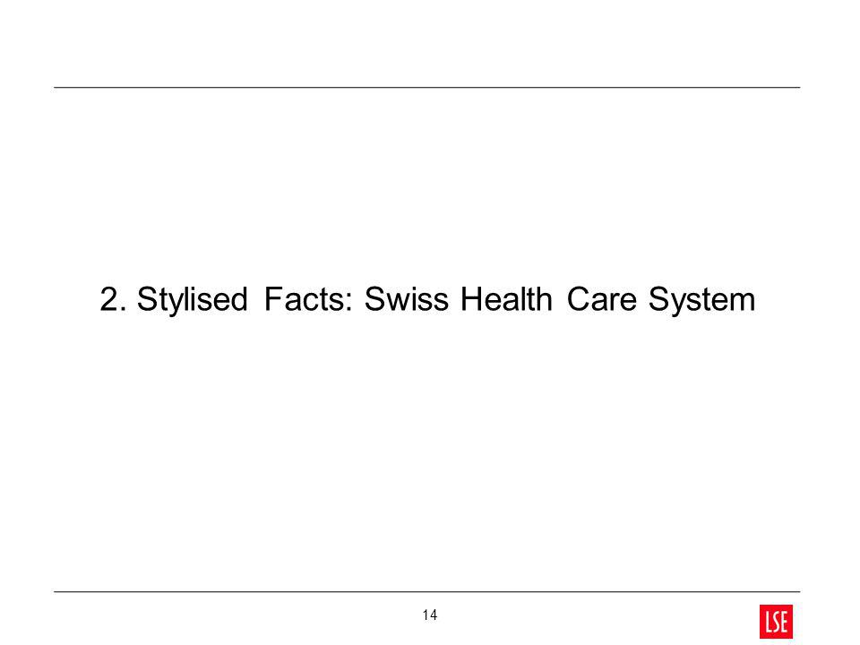 2. Stylised Facts: Swiss Health Care System