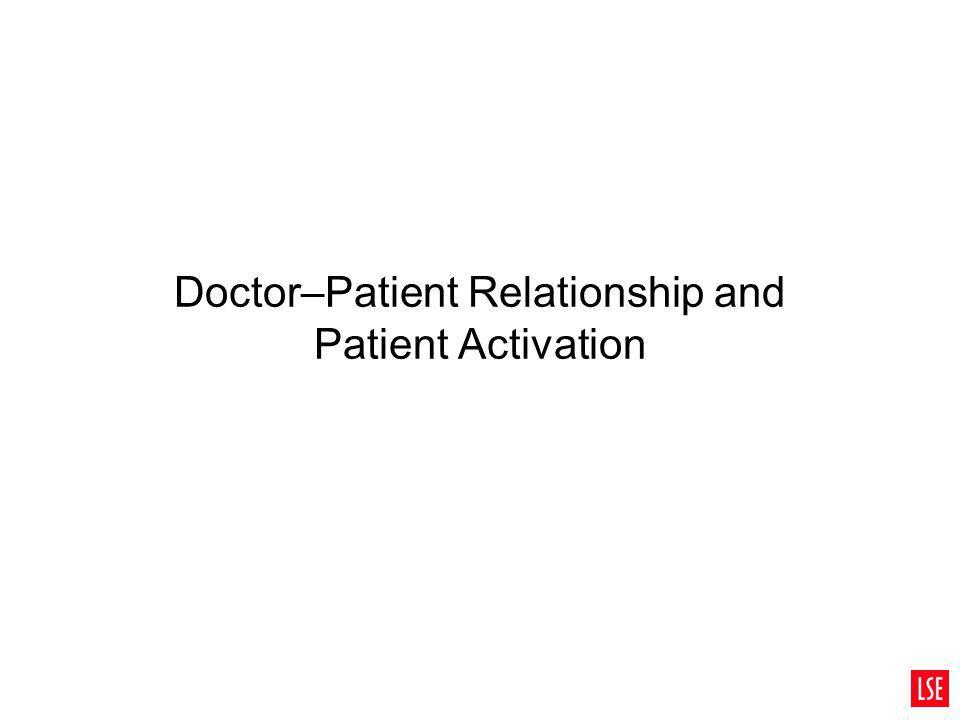 Doctor–Patient Relationship and Patient Activation