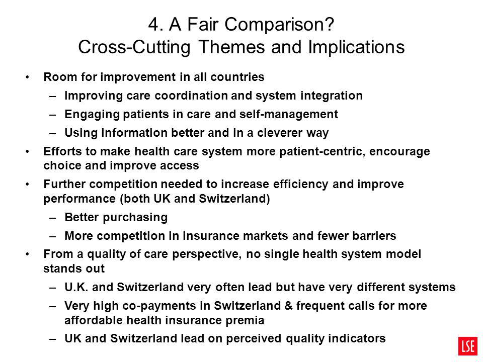 4. A Fair Comparison Cross-Cutting Themes and Implications