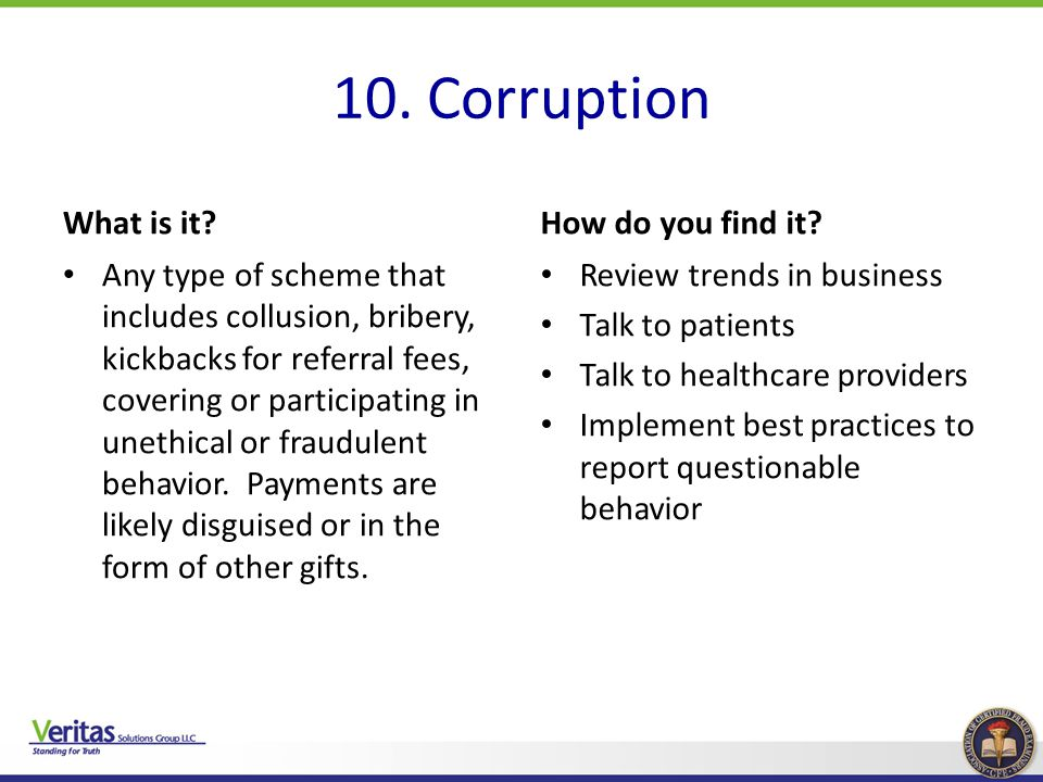 10. Corruption What is it How do you find it