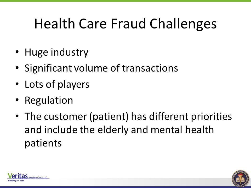 Health Care Fraud Challenges