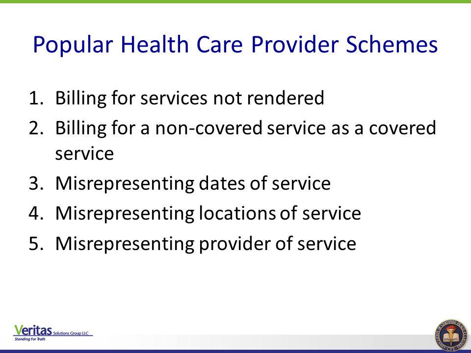 Popular Health Care Provider Schemes