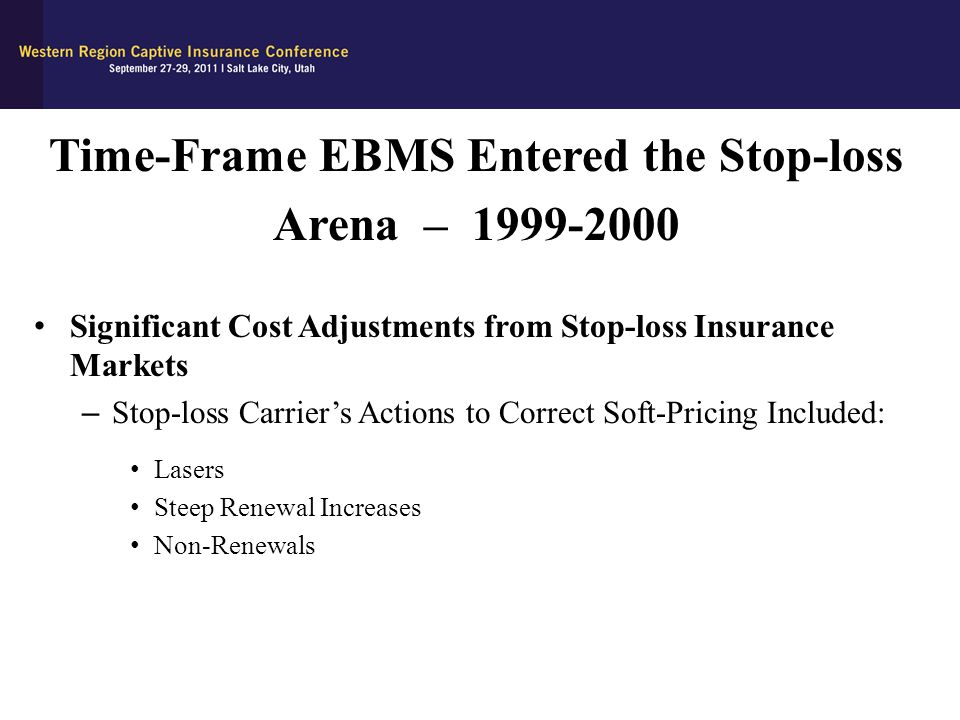 Time-Frame EBMS Entered the Stop-loss