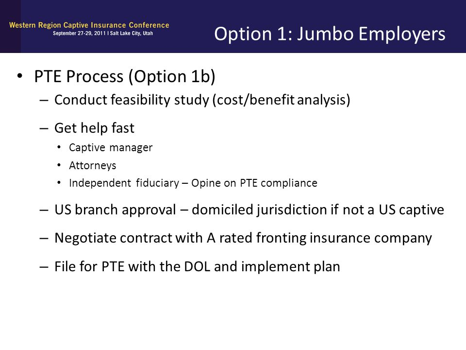 Option 1: Jumbo Employers