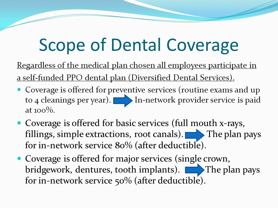 Scope of Dental Coverage