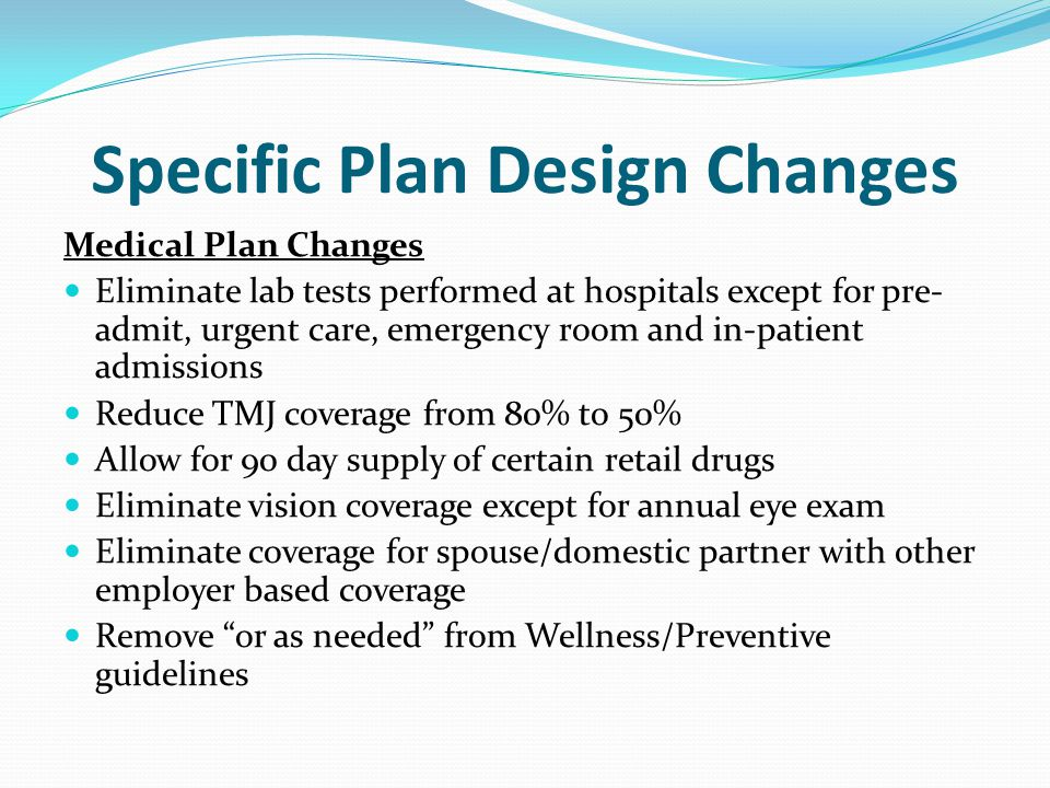 Specific Plan Design Changes