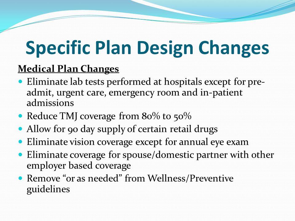 Specific Plan Design Changes