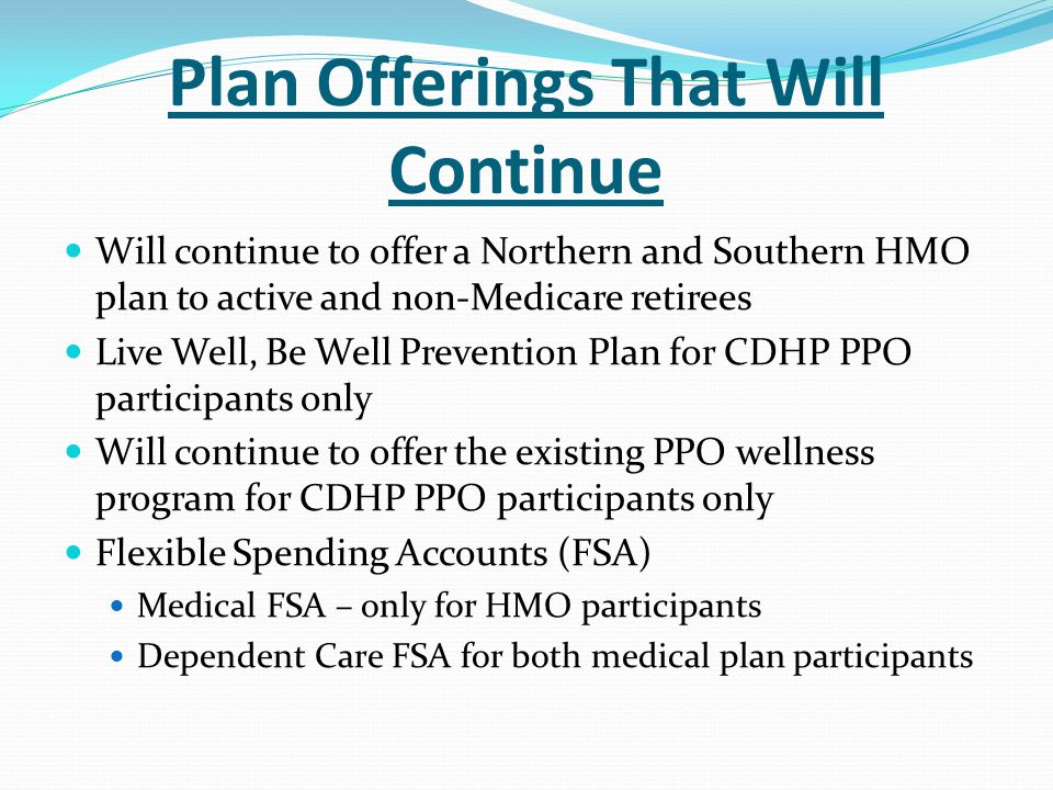Plan Offerings That Will Continue