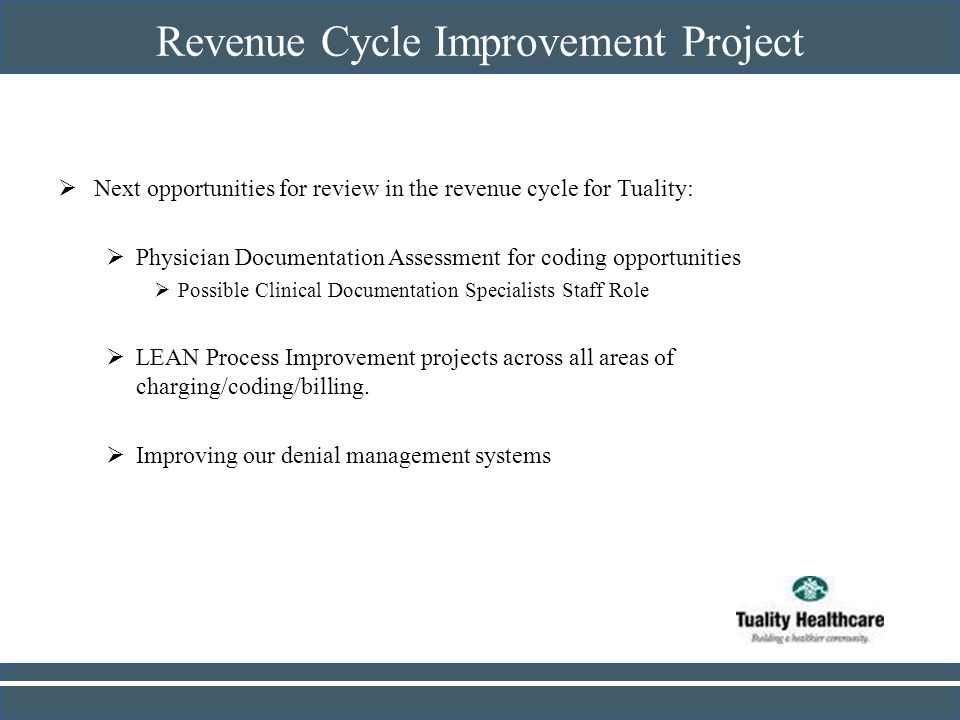 Revenue Cycle Improvement Project