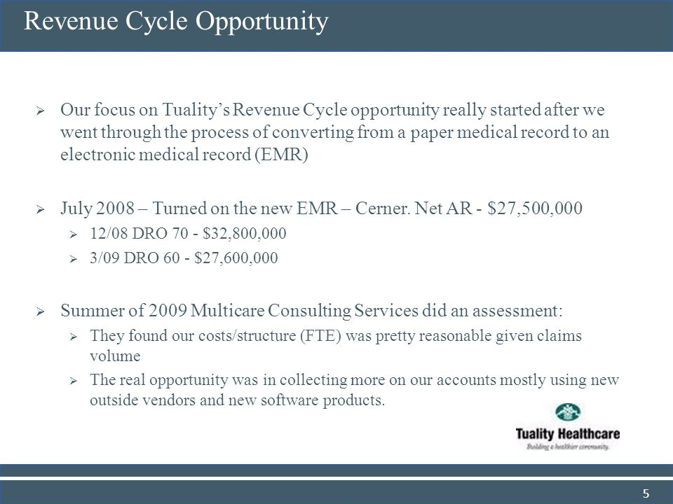 Revenue Cycle Opportunity