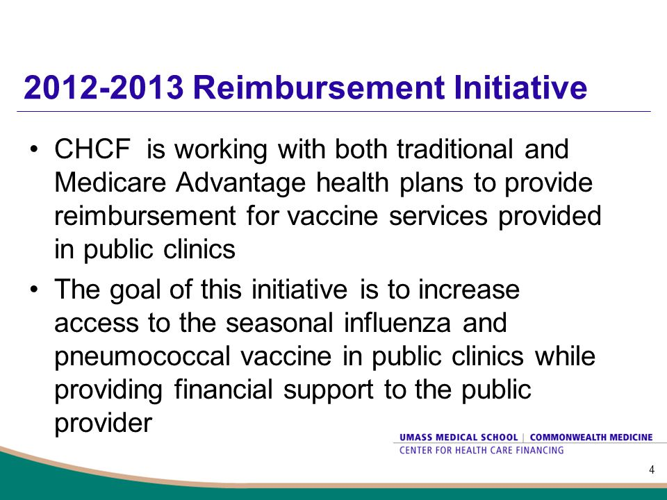 2012-2013 Reimbursement Initiative