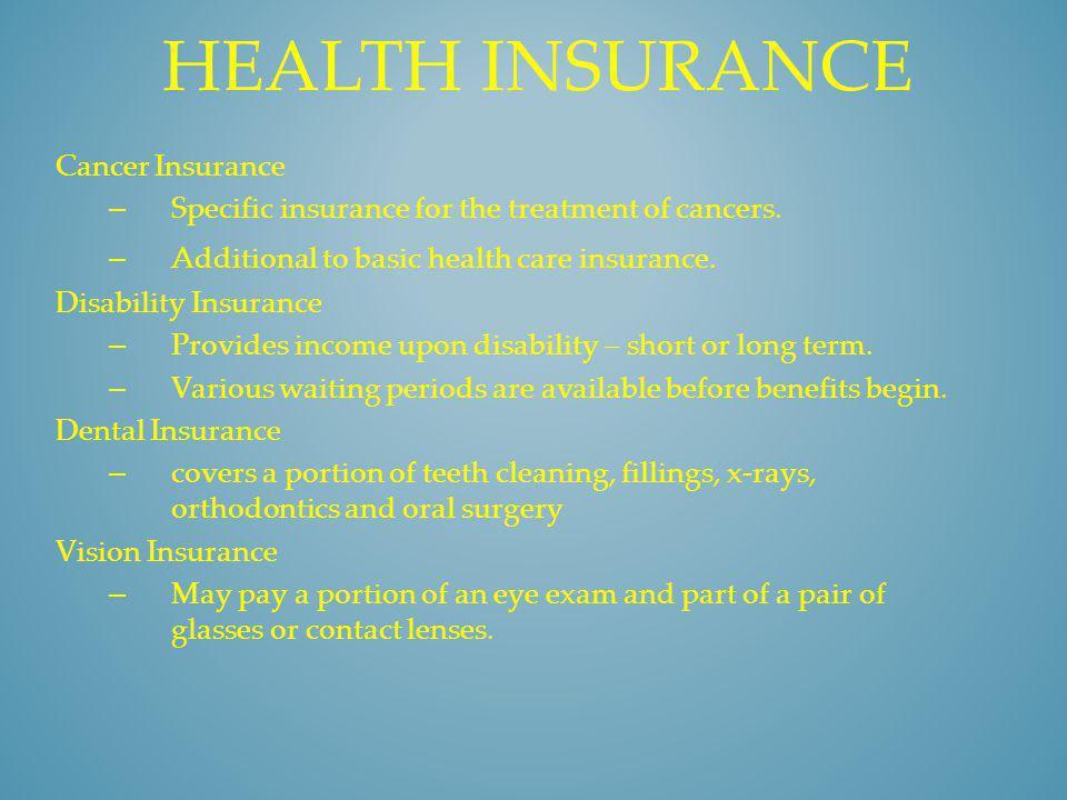 Health insurance Cancer Insurance