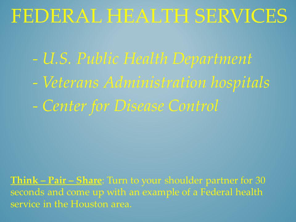 Federal health services