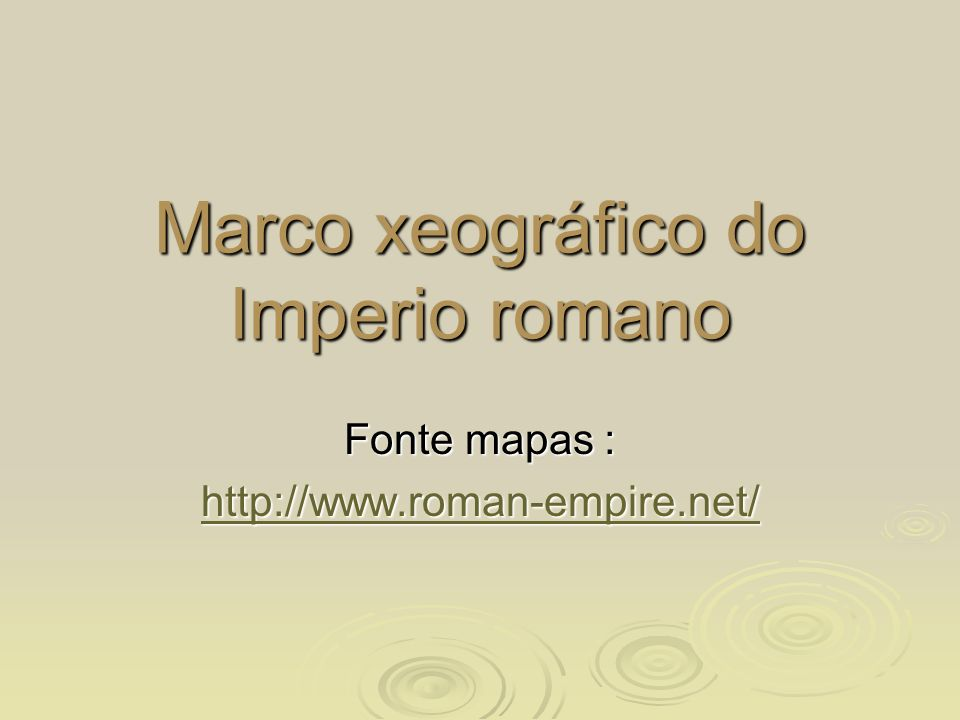 Marco xeográfico do Imperio romano