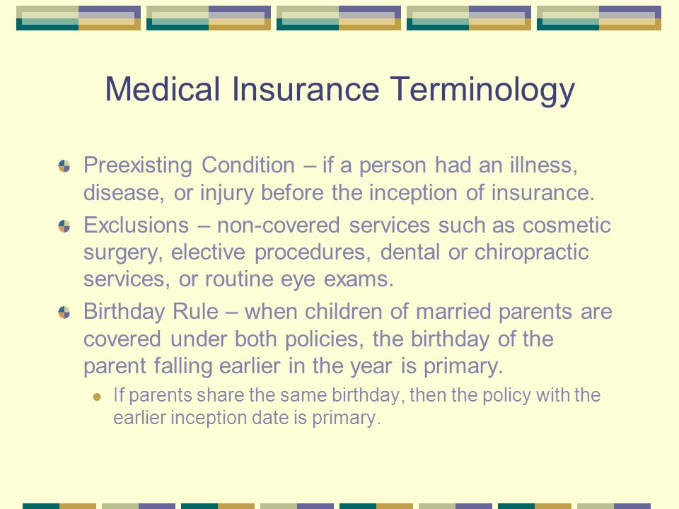 Medical Insurance Terminology