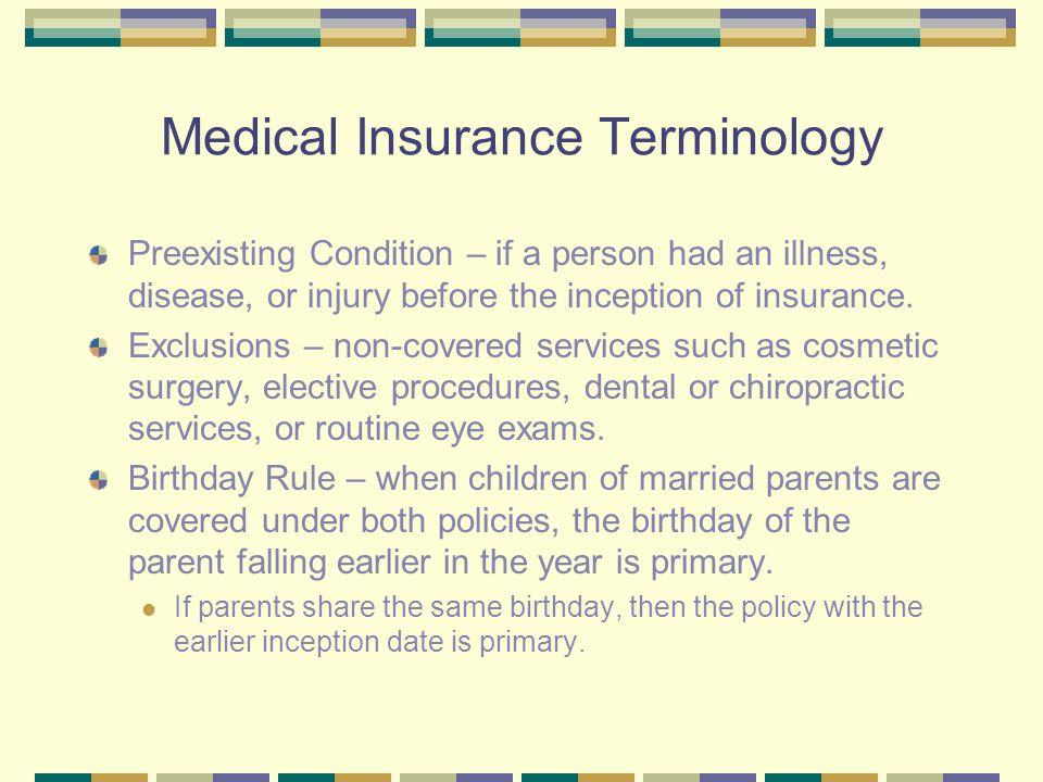 Medical Insurance Terminology