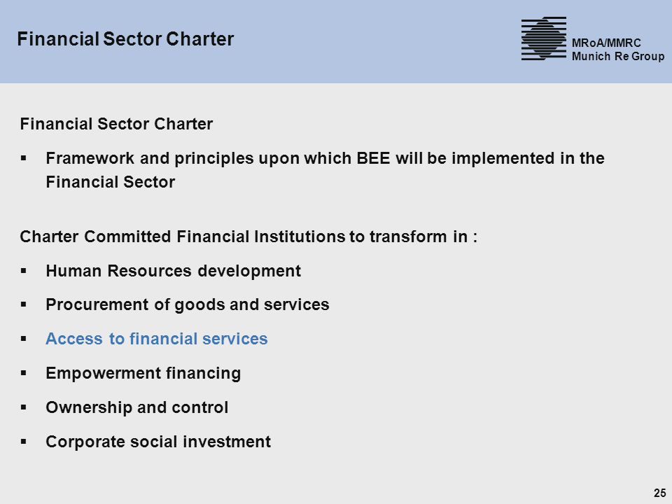 Financial Sector Charter