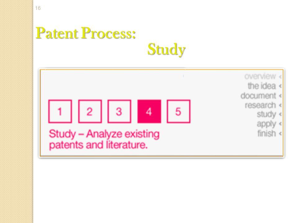 Patent Process: Study