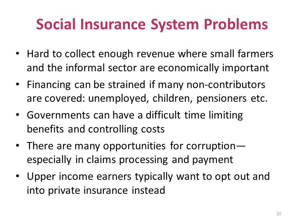 Social Insurance System Problems