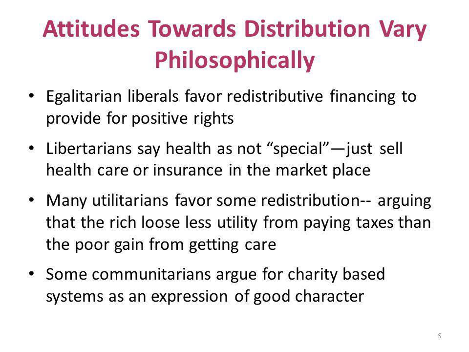 Attitudes Towards Distribution Vary Philosophically