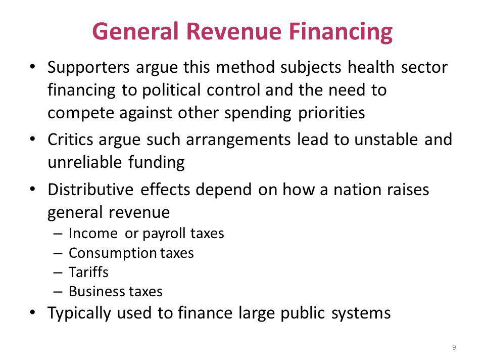 General Revenue Financing