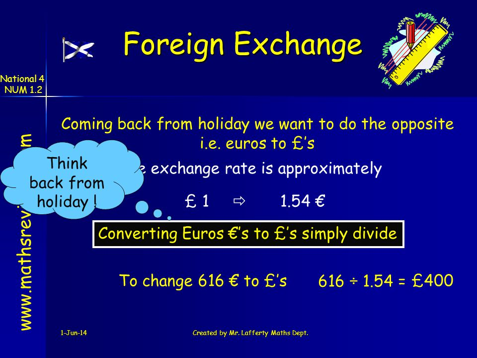 Foreign Exchange www.mathsrevision.com
