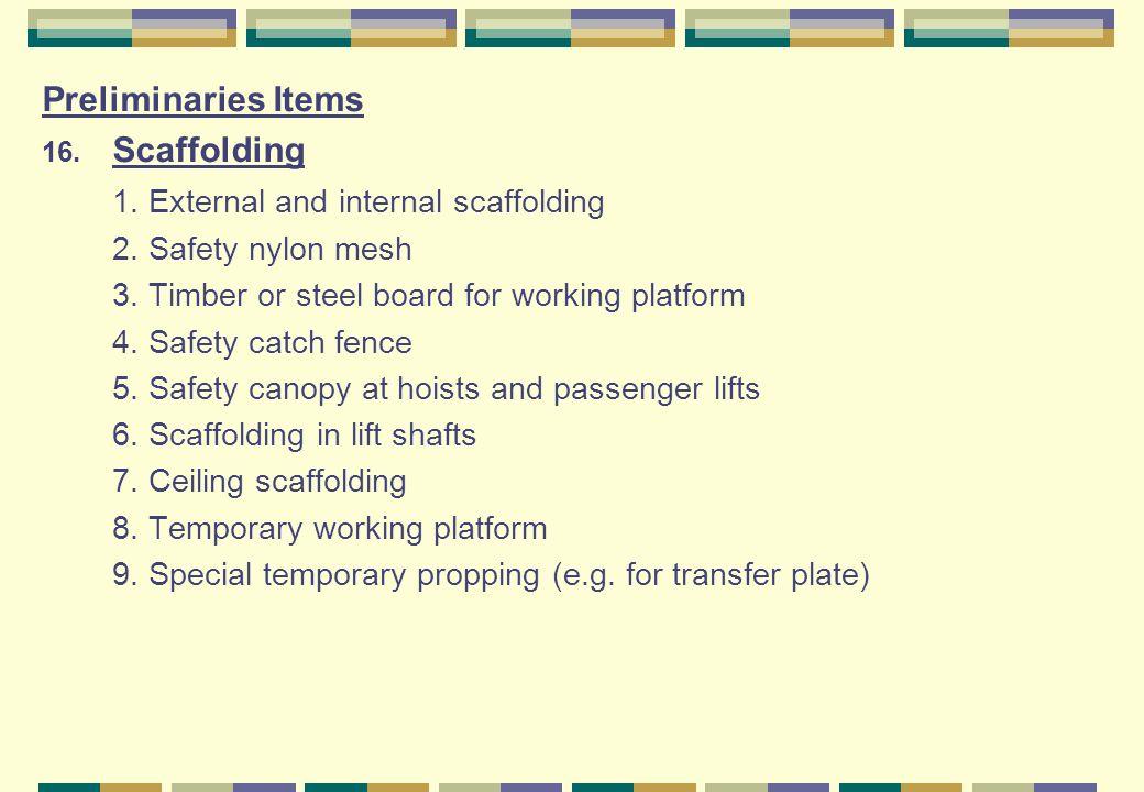 1. External and internal scaffolding