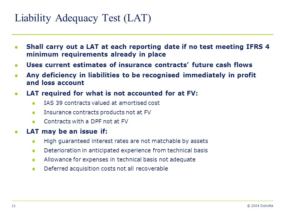 Liability Adequacy Test (LAT)