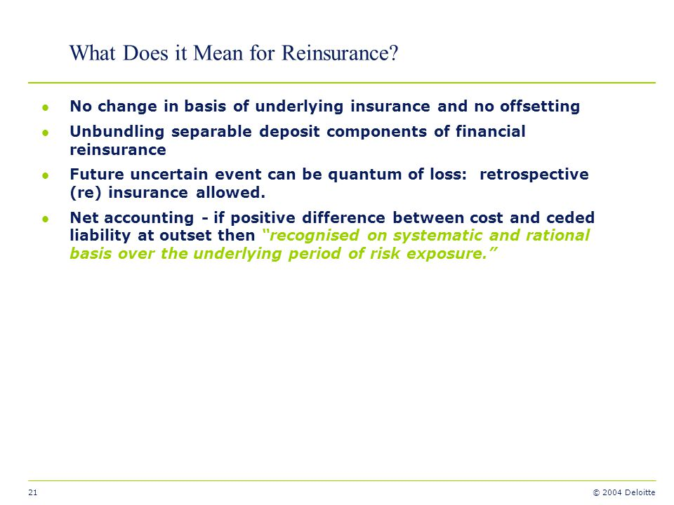 What Does it Mean for Reinsurance