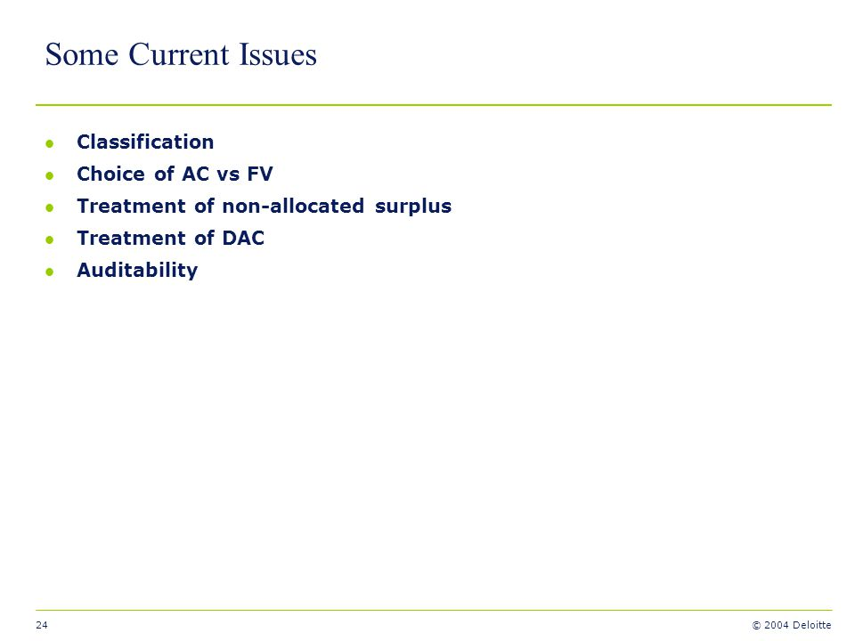 Some Current Issues Classification Choice of AC vs FV