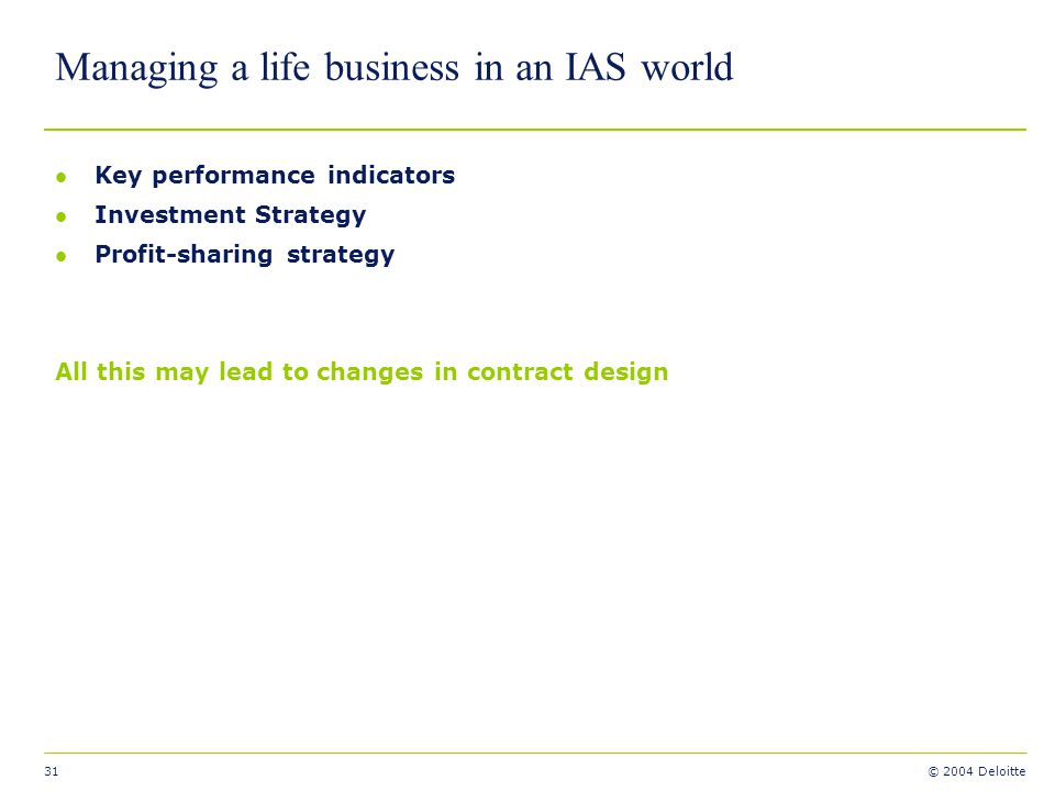 Managing a life business in an IAS world