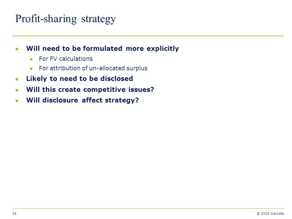 Profit-sharing strategy