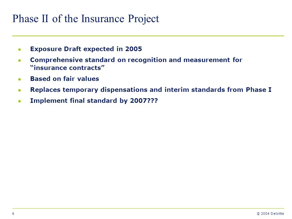 Phase II of the Insurance Project