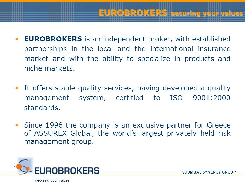 EUROBROKERS securing your values