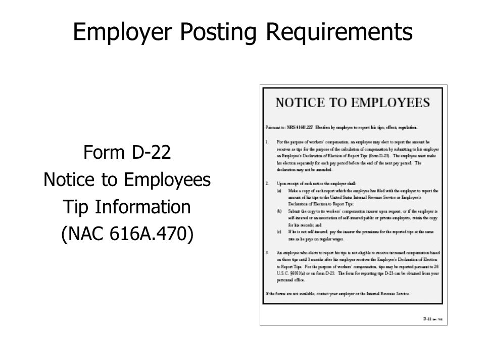 Employer Posting Requirements