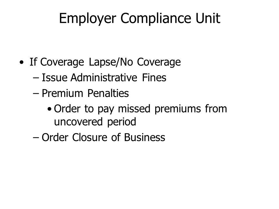 Employer Compliance Unit