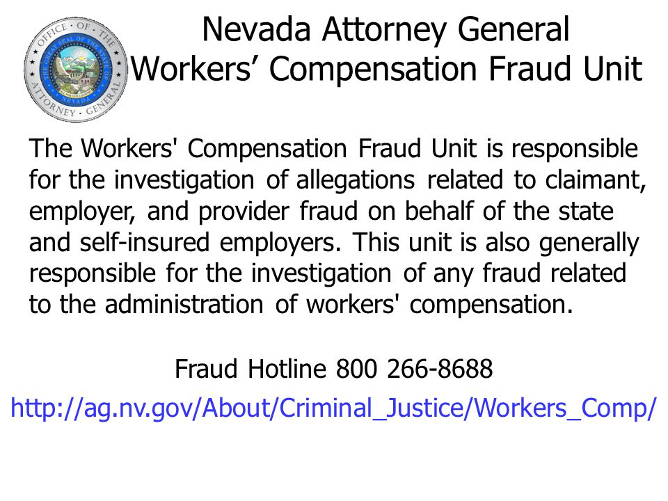 Nevada Attorney General Workers' Compensation Fraud Unit