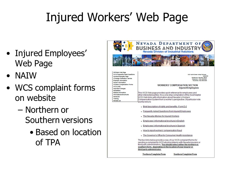 Injured Workers' Web Page