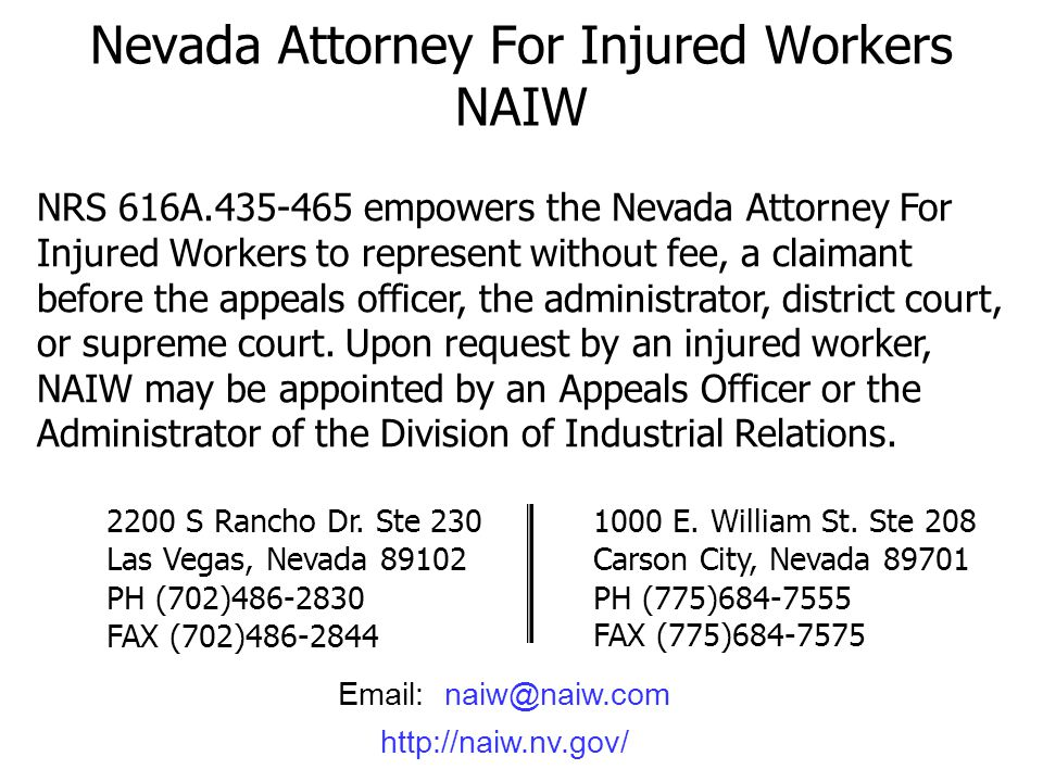 Nevada Attorney For Injured Workers NAIW