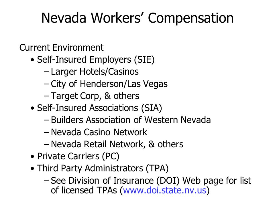 Nevada Workers' Compensation