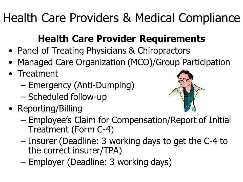 Health Care Providers & Medical Compliance