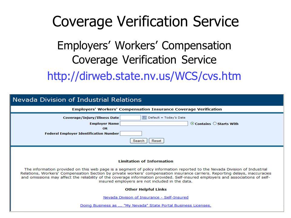 Coverage Verification Service