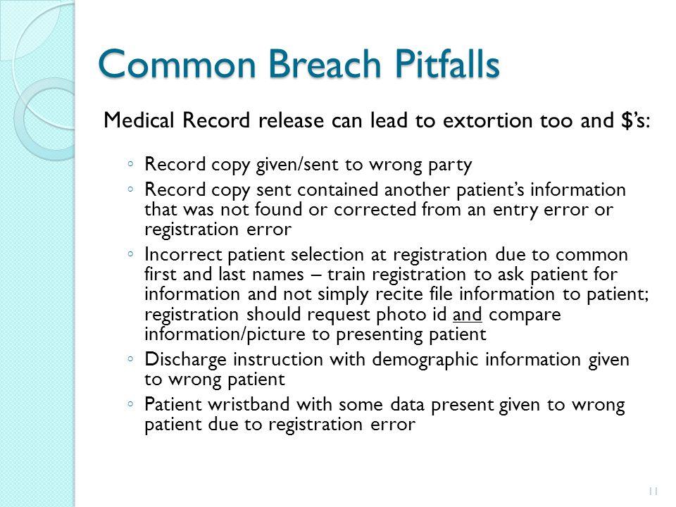 Common Breach Pitfalls